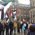خلال المظاهرة في امستردام