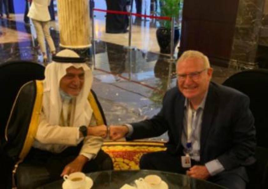 يادلين مع الأمير السعودي تركي الفيصل