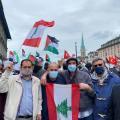 الاعالام الفلسطينية واللبنانية في وقفة زوريخ