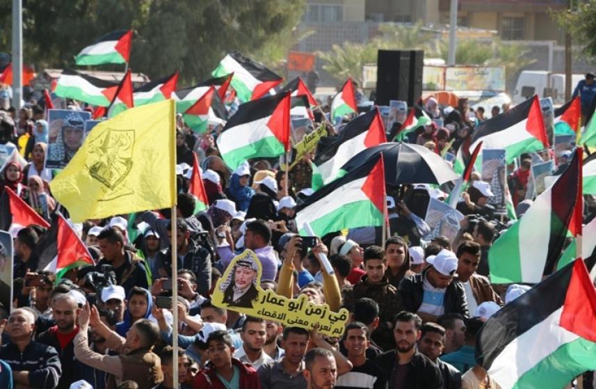 المحتجون في قطاع غزة