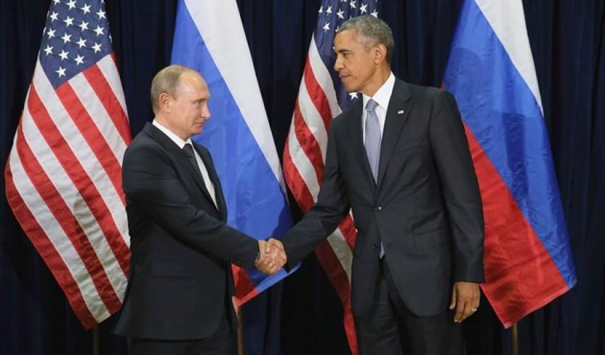 الرئيس الأمريكي باراك أوباما والرئيس الروسي فلاديمير بوتين