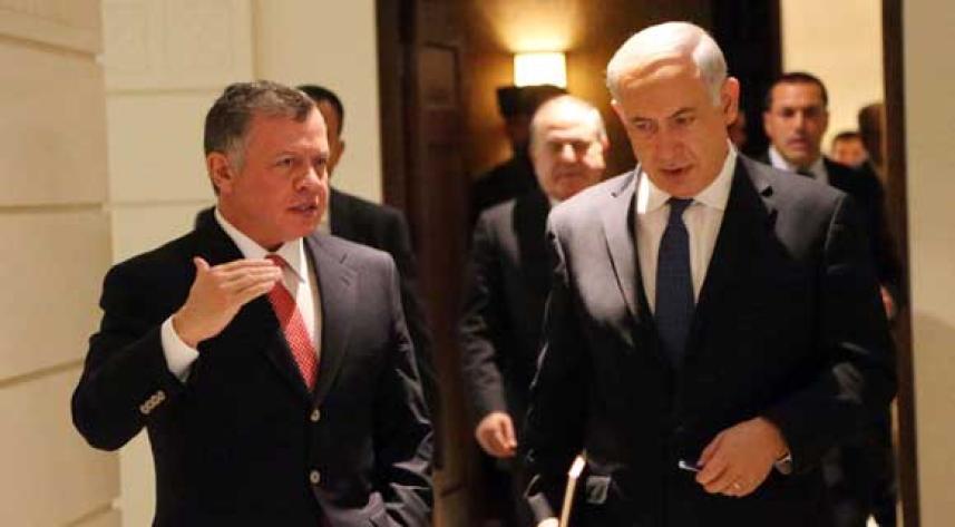نتنياهو وملك الأردن