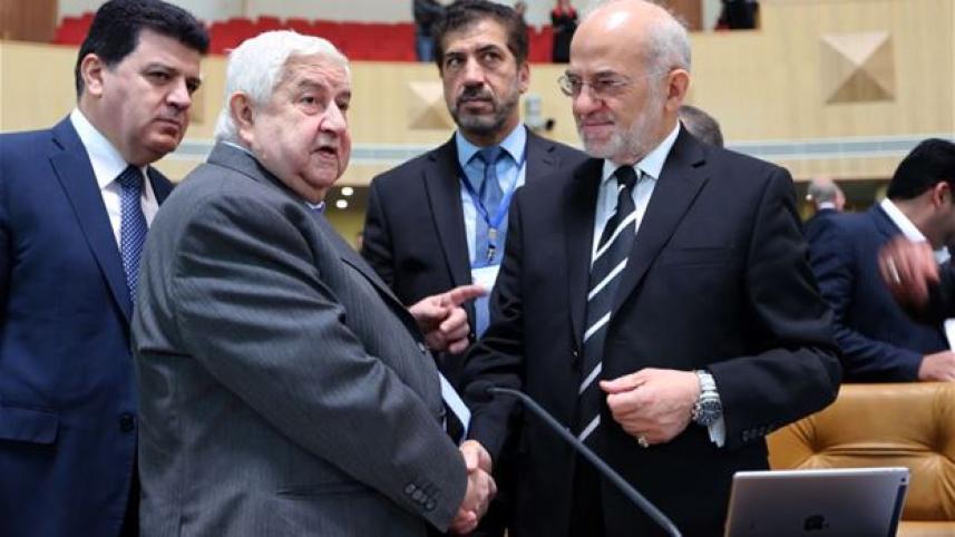 وزيرا خارجية العراق وسوريا