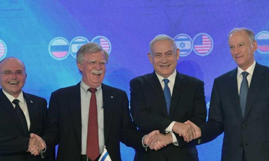 """اللقاء الروسي الأمريكي """"الإسرائيلي"""" بوجود جون بولتون"""