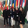 الطلبة الفلسطينيون المشاركون بالمسابقة