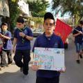 خلال المسيرة الكشفية