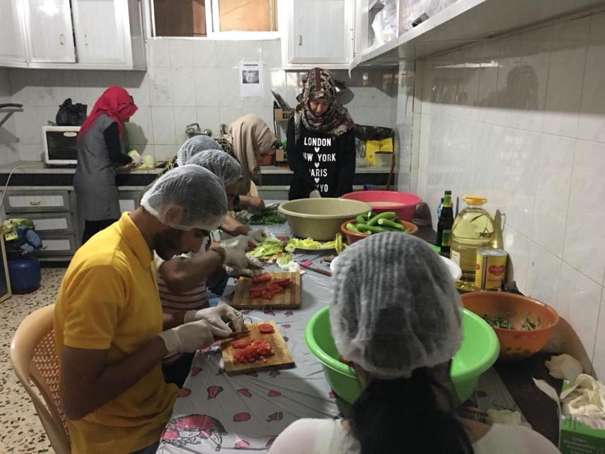 خلال تحضير الطعام