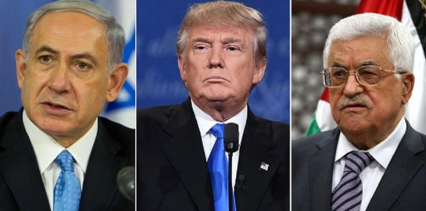 ترامب وعباس ونتنياهو