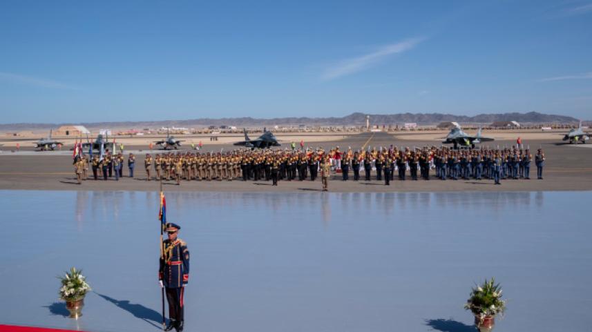 افتتاح القاعدو العسكرية المصرية