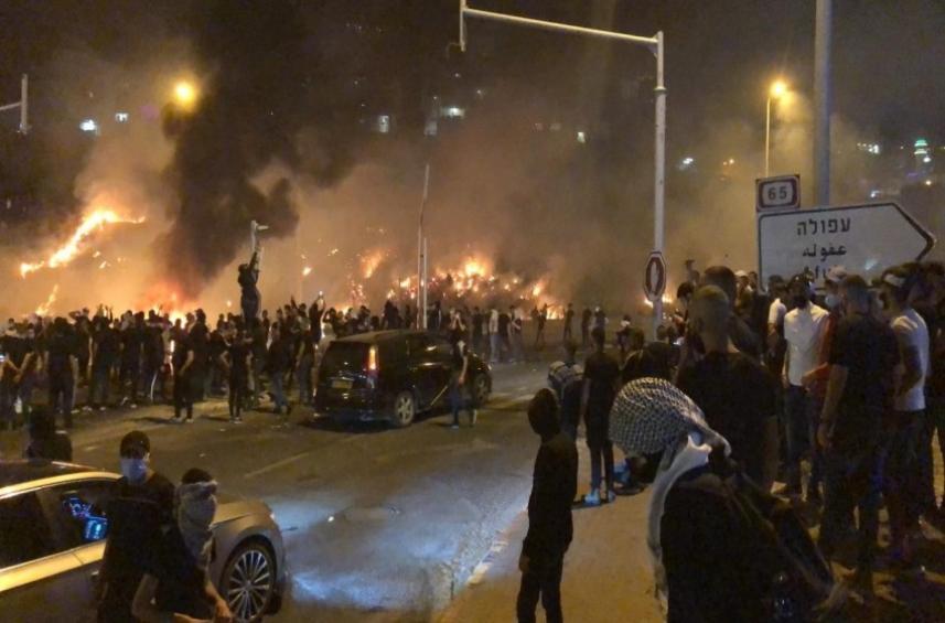 من تظاهرات الداخل الفلسطيني المحتل