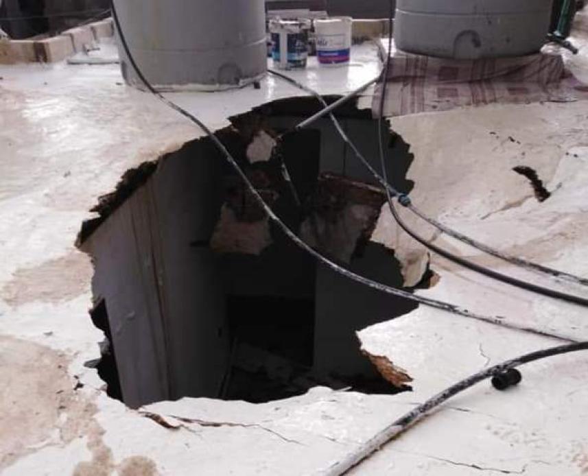 انهيار سقف في شاتيلا