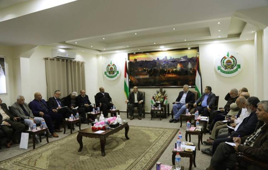 الفصائل الفلسطينية تجتمع في مكتب السنوار