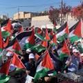 مسيرة الأعلارم الأولي في ام الفحم بالداخل الفلسطيني المحتل عام 48