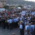 الفلسطينيون يتظاهرون ضد شرطة الاحتلال