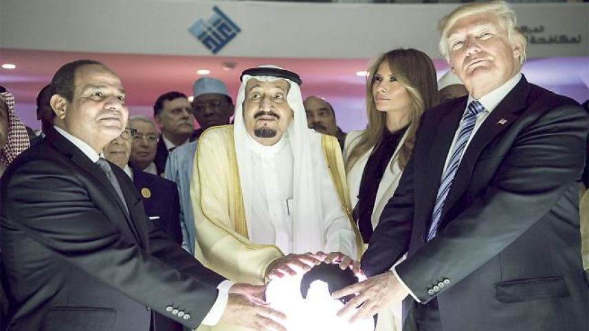 ترامب والسيسي والملك سلمان