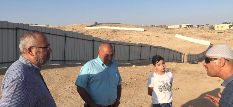 النائبان طلب أبو عرار و أسامة السعدي بأم الحيران