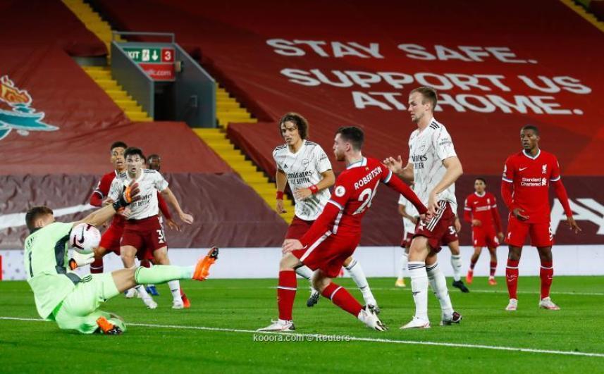 ليفربول يعاقب آرسنال