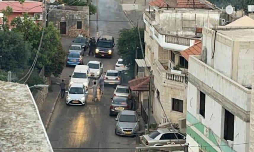 خلال مداهمة كفر كنا من قبل سلطات العدو الصهيوني