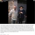 منشور على فيسبوك للحاخام الصهيوني