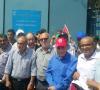 صورة من الاعتصام امام مقر الأونروا