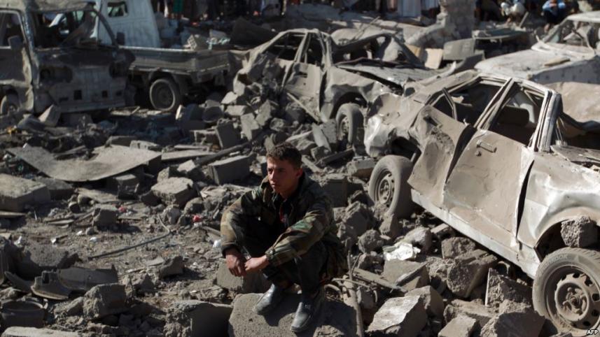 أثار القصف على اليمن