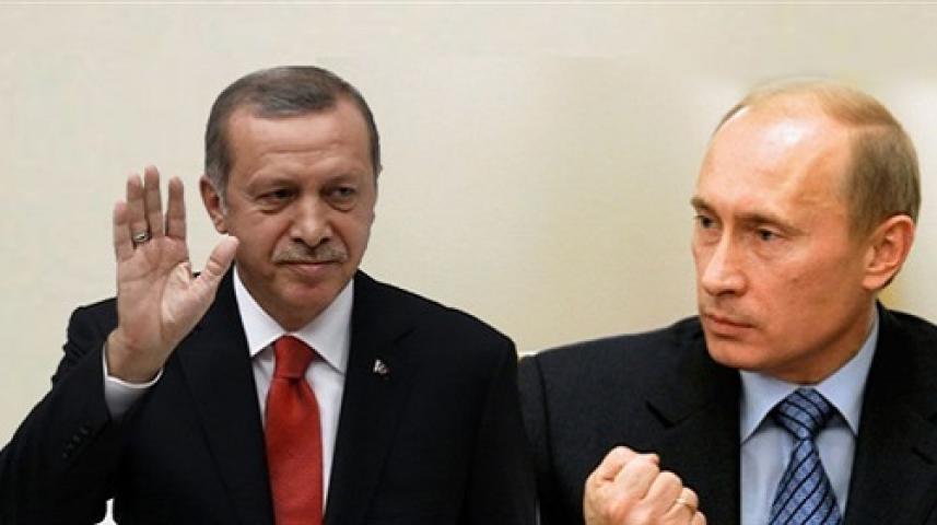 الرئيس الروسي، فلاديمير بوتين، والرئيس التركي، طيب رجب أردوغان