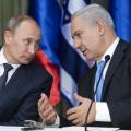 رئيس وزراء العدو، بنيامين نتنياهو والرئيس الروسي، فلاديمير بوتين